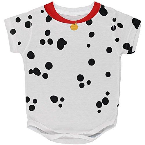Hunde Kostüme Für Dalmatiner (Halloween Hund Dalmatiner Kostüm roten Kragen auf der ganzen Baby One Piece Multi 12)