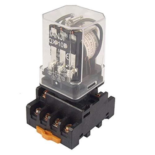 UIOTEC JQX-10F DC 12V Coil General Purpose Relay 11 Pin 3PDT 7.5A 250VAC 10A 30VDC w Socket ** 11-pin Relay Socket