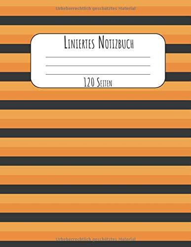 120 Seiten: A4 Tagebuch I Kladde I Schreibheft I Notizblock für Halloween Liniert mit Softcover und schönem linierten Cover ()