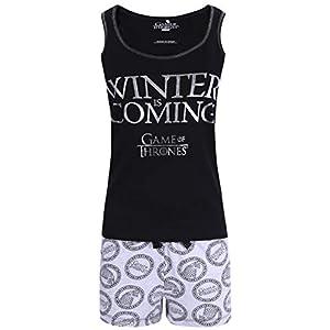 Pijama Gris y Negro para Mujer Juego de los Tronos 6