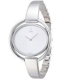 Calvin Klein–Reloj de pulsera analógico para mujer cuarzo acero inoxidable k4F2N116