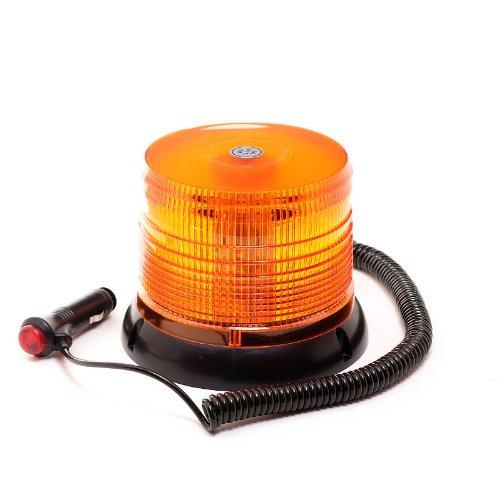 LED-MARTIN® Rundumleuchte 12V/24V - Orange - Magnetfuß - 3,5m Kabel