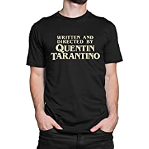 LaMAGLIERIA Camiseta Hombre Written and Directed by Quentin Tarantino - Camiseta 100% algodòn