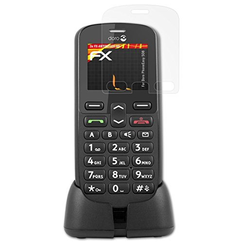 atFolix Schutzfolie kompatibel mit Doro PhoneEasy 508 Bildschirmschutzfolie, HD-Entspiegelung FX Folie (3X)