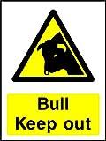 Bull Keep Out Landschaft & Landwirtschaft Hinweisschild Vinyl Aufkleber Best auf eBay