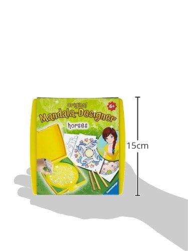 Imagen 5 de Ravensburger 29986 Mini Mandala Designer  - Set de dibujo y diseño temática de caballos [Importado de Alemania]
