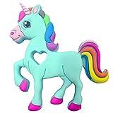 Fancyku Baby Teething Toy Bendable & Freezer Friendly Unicorn Teethers Soft Silicone BPA-Free Natural Organic Infant Toys