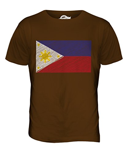 CandyMix Philippinen Kritzelte Flagge Herren T Shirt Braun