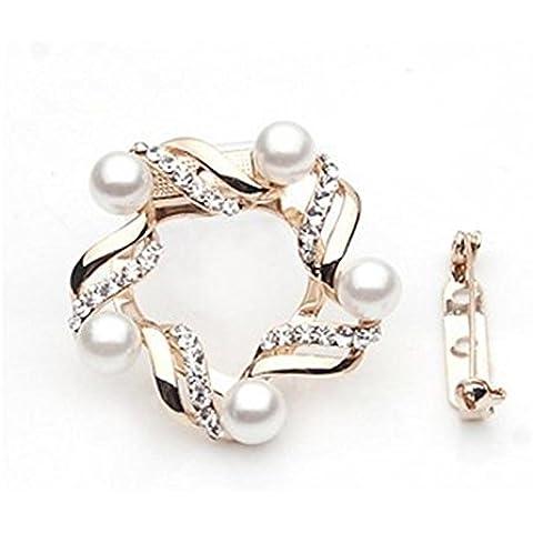 Spille del semplice del diamante perla di due-acqua combinazione di nuova sciarpa di seta , b