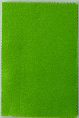Fabrics-City 2MM FILZPLATTE CA. 20X30CM DEKO BASTELN FILZ STOFF STOFFE , 4332 (apfelgrün)