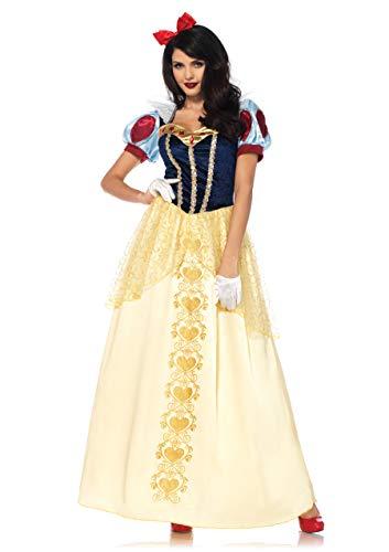 Leg Avenue 85573 2 teilig Set Schneewittchen Deluxe, Damen Karneval Kostüm Fasching, L, Mehrfarbig