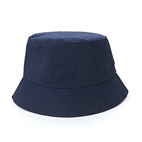Opromo Blank Cotton Twill Bucket Hat, One Size Fits All - Navy Blue