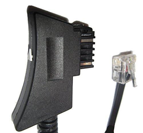 1x TAE-F-Stecker auf 1x RJ11-Stecker UNION Top Telefonkabel Netzwerkkabel Faxkabel fax cable Telefonstecker