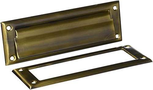 Deltana MS626U5 8 7/8-Inch Mail Slot with Solid Brass Interior Frame by Deltana