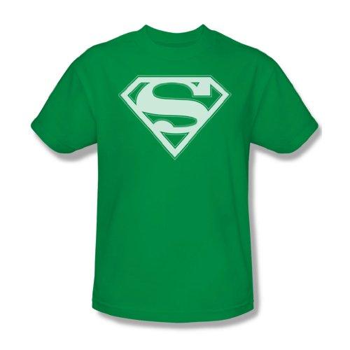 Superman - Grün-Weiß-Schild - Erwachsene Kelly-Grün Kurzarm T-Shirt für Männer Kelly Green
