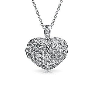 Große Ebnen Cz Puff Herzform Aromatherapie Ätherische Öle Parfüm Diffusor Medaillon Anhänger Mit Halskette Für Damen