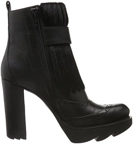 Fersengold - Bremen, Stivali a metà polpaccio con imbottitura leggera Donna Nero (Nero (nero))
