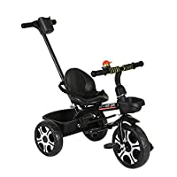 2 in 1 Trike Tricycle for Kids, Boys Girls Toddler Trike Bicycle with Detachable Parent Push Handle for 1-6Yrs