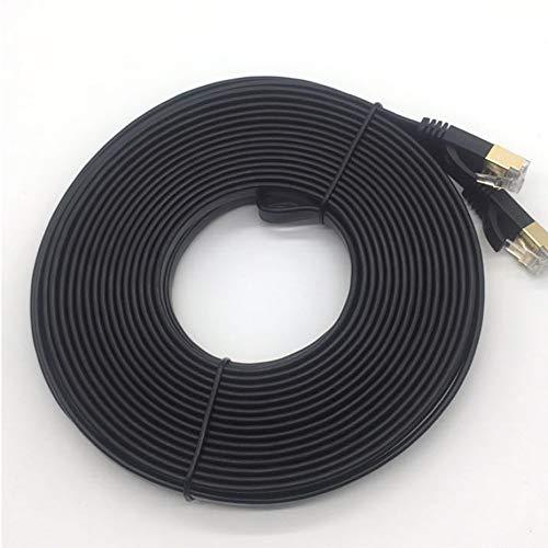 5m CAT7 Ethernet Kabelstecker Ethernet Internet Netzwerkkabel Patchkabel Flache Designleitung Schwarz - schwarz