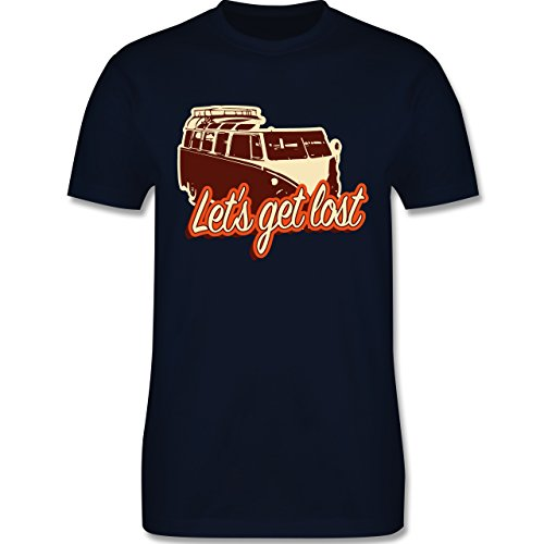 Autos - Let's get lost - Bus - Herren Premium T-Shirt Navy Blau