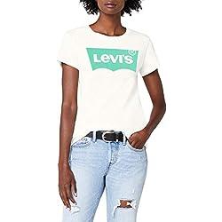Levi's the Perfect Tee, T-Shirt Femme - Blanc (Better Batwing Cloud Dancer 0305) - Medium