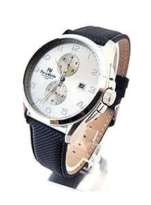 Pascal hilton ph luxus business orologio cronografo for Orologio legno amazon