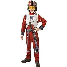 Star Wars RubieS Official PoE X-Wing, Traje de Luchador Clásico para niños,