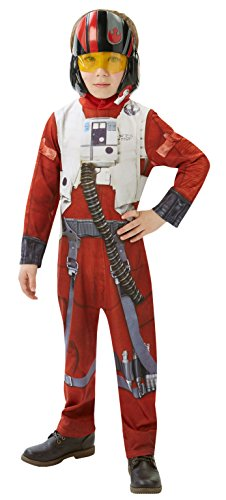 Rubie's official star wars poe x-wing fighter classic costume da carnevale, large (7-8 anni)