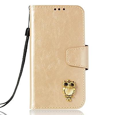 Lomogo LG K8 2017 / M200N Hülle Leder, Schutzhülle Brieftasche mit Kartenfach Klappbar Magnetverschluss Stoßfest Kratzfest Handyhülle Case für LG K8 (2017) - von Lomogo auf Gartenmöbel von Du und Dein Garten