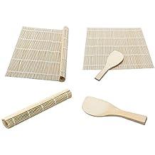 westeng bambú Sushi Rolling Mat, bambú Material rodillo alfombrilla para sushi y Sushi de una pala