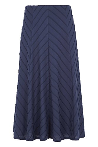 Roman Originals Women's Stripe Panelled Flared Skirt