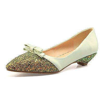 Confortevole ed elegante piatto scarpe donna Appartamenti Primavera Estate Autunno altri PU Office & Carriera Party & abito da sera tacco basso altri verde mandorla rosa altri Green