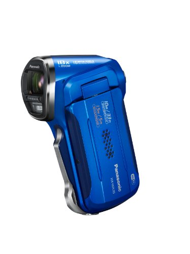 Panasonic HX-WA30EB-A Full HD 1920 x 1080 Vertical Tough Camcorder - Blue (16MP, Built in Wi-Fi, 10m Waterproof, -10c Freezeproof, 1.5m Shockproof, Dustproof, High Quality Still Images, 18x Intelligent Zoom) 2.6 inch LCD