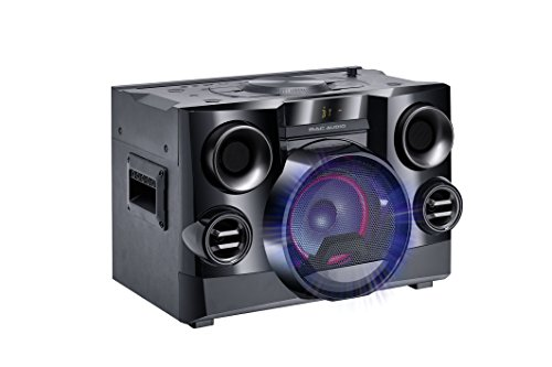 Mac Audio MMC 800 | High Power Sound System mit Bluetooth, USB, CD-Player und FM-Tuner | Integrierter DJ Modus, Party Mode Ausgang - schwarz