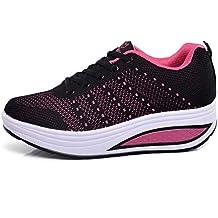 Zapatillas Deportivas de Mujer Zapatos Mecedora Net para Estudiante Volar Zapatos Running Moda cojín de Aire
