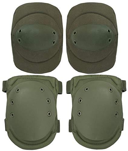normani Tactical Protektorenschutz Ellenbogenschützer und Knieschützer für Paintball Farbe Oliv