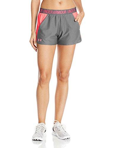 Under Armour Damen Play Up Shorts 2 Kurze Hose, grau(True Gray Heather / Brilliance / Brilliance (031)), XS