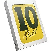 Pelé Número 10 Brasil camiseta de fútbol firmada en el dorso En caja de regalo