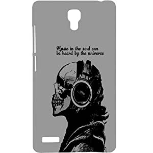 Casotec Music Design Hard Back Case Cover for Xiaomi Redmi Note 4G