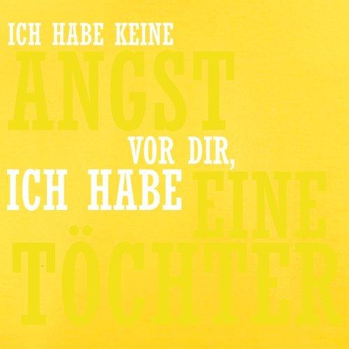 ICH FÜRCHTE MICH NICHT VOR DIR, ICH HABE EINE TOCHTER - Herren T-Shirt - 12 Farben Gelb