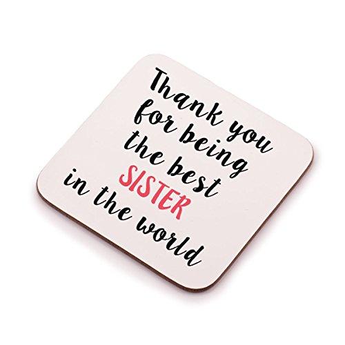 """""""Danke für die beste Schwester der Welt"""" Untersetzer–Tolles Geburtstag oder Weihnachtsgeschenk/Geschenk Idee für jeden Schwester."""