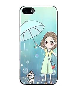 PrintVisa Designer Back Case Cover for Apple iPhone 4S (Rain Cat)
