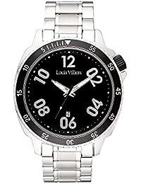 Louis Villiers Reloj Analogico para Unisex de Cuarzo con Correa en Acero Inoxidable LV1054
