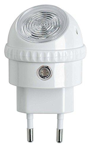 Osram LED-Steckdosenlicht, Nachtbeleuchtung, Lunetta, weiß, Dämmerungssensor, 360 ° drehbarer Leuchtkopf