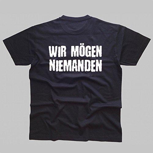 Böse Buben Club Wir mögen niemanden Biker T - Shirt - Unisex Schwarz