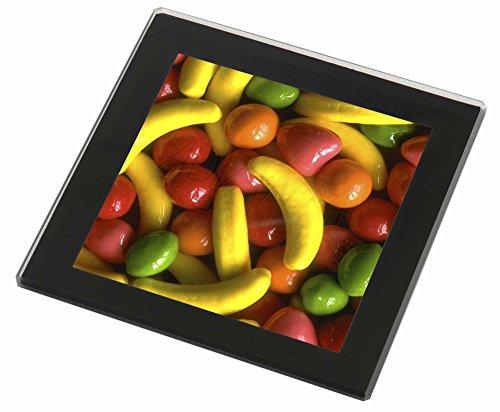 Fruchtbonbons Glasuntersetzer mit schwarzem Rand Weihnachtsgeschenk