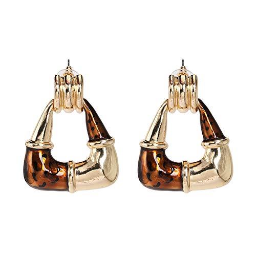 Z&HA Frauen Geometrische Legierung Frauen Kette Ohrringe Ausschnitt Acryl Legierung Anhänger Ohrringe Drop 4,5 cm Bankett Party Schmuck,05