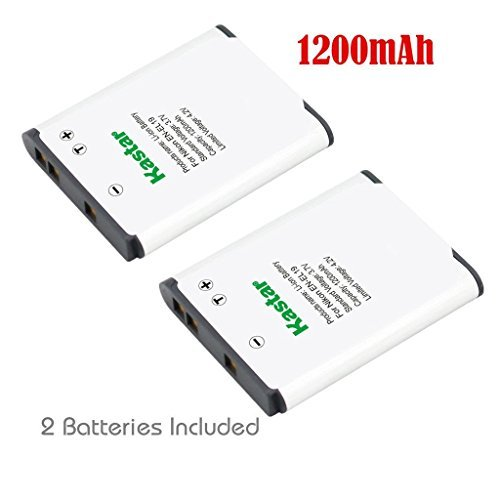 Kastar Battery 2 Pack for Nikon EN-EL19 MH-66 Coolpix A100 S32 S100 S3200 S3300 S3400 S3500 S3600 S3700 S4100 S4200 S4300 S4400 S5200 S5300 S6400 S6500 S6600 S6800 S6900 S7000 Sony NP-BJ1 DSC-RX0  available at amazon for Rs.2009