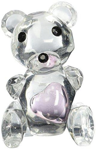 ystal Collection Teddy Bär Figuren mit rosa Herz (Teddybär Gefälligkeiten)