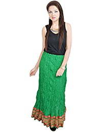 Sunshine Ecommerce Rajasthani Green Exclusive Cotton Skirt